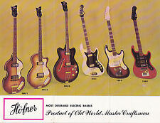 HOFNER Bass & Guitar Flyers (1960's, set of 4) (includes 500/1 Bass - McCartney)