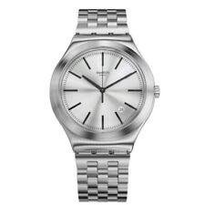 Swatch orologio uomo acciao con datario MON QUOTIDIEN YWS429G