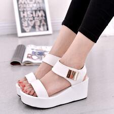 Womens Sandals Wedge Platform Heel Slingback Pumps Ladies Summer Shoes Straps