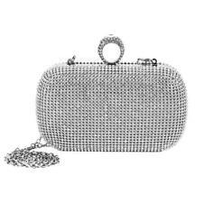 Womens Diamante Evening Bag Ladies Clutch Purse Party Bridal Prom Handbag Shiny