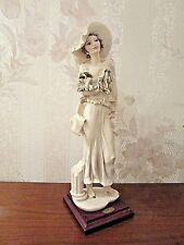 "G. Armani Figure Figurine Statue Sculpture ""Sophia"" Lady Dog, Italy, Rare"