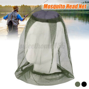 Mosquito Fly Head Net Insect Mesh Bee Bug Mozzie Protector For Fishing Campi