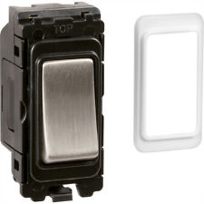 Wessex Brushed Stainless Steel Grid Switch Retractive