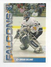 2005-06 Springfield Falcons (AHL) Brian Eklund (goalie)