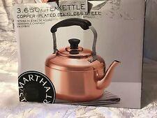 Martha Stewart Collection 3.65 Qt Heirloom Copper Plated Tea Kettle