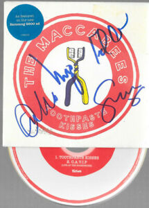 THE MACCABEES - toothpaste kisses - SIGNED  (blue ) - CD  2  Track