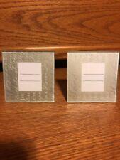 NEW!! SET OF TWO!! Kate Aspen Silver Photo Frame Favor 2.75 x 1.75 Glass FRAME!!