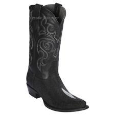 Men's Los Altos Genuine Single Stone Stingray Western Cowboy Boots Snip Toe