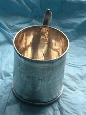 """Early Gorham Coin Silver Cup Dated 1860 3"""" Tall X 2 3/4"""" Across"""