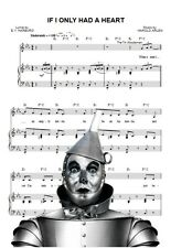 Fabric Block Sheet Music The Wizard of oz Tin Man If I only had a Heart
