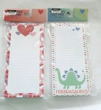 2 Pack Notepads Magnetic Memo Pads for Shopping List Notes Reminders 80 sheets