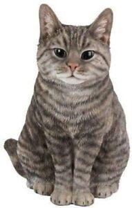 Vivid Arts Lifelike Sitting Cat Tabby XRL-SC33-B Ornament