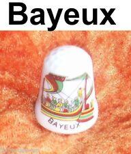 Fingerhut Porzellan Schiff selten thimble dé Bayeux France Souvenir Dedal