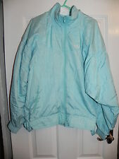 ADIDAS VINTAGE 80s Light Blue Tracksuit Top / Jacket With Cinch on waist