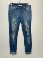 Cello jeans size 7 cotton distressed blue