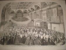 Ball Dublin Exhibition building for Irish Academy of Music 1865 print rf T