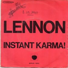 VINYLE 45 TOURS JOHN LENNON INSTANT KARMA 2C00691149 FRANCE 1970 SINGLE 7