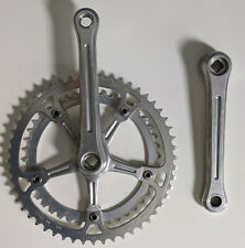 Vintage Sugino Fluted Crankset w/ Chainrings 144BCD 165 42/52 VG square taper