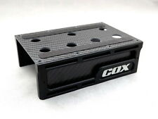 RC-COX Chassis Set-up Alu Carbon Stage For Xray T4 T3 BD7 CSO TC10 TR10 BD7 -Bk