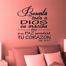 Wall Decal. Inspirational Wall Decal. Christian Decor. Biblia. Filipenses 4:6-7
