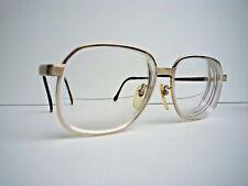 Vintage Retro Ted Lapidus Paris Titan - P Goldtone Mens Eye Glasses 56 16-140