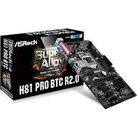 New ASRock H81 PRO BTC R2.0 Motherboard ATX LGA 1150 6 GPU Mining Limited Supply