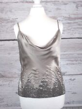 KAREN MILLEN OYSTER SILK ART DECO BEADED TOP - SIZE 8