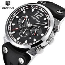 BENYAR Mens Watches Quartz Waterproof Sports Wrist Watch Military Pilot Silicone