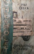 Chevrolet C-50 1961 Truck Owner Operator's Manual 106pg GM GMC CHEVY
