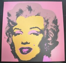 """Andy Warhol, """"Marilyn Monroe"""" in Orange – Mauve – Pink (Face–Hair–Background)"""