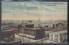 Postcard JACKSON Michigan/MI J.E Bartlett Store & Business Storefronts view 1907
