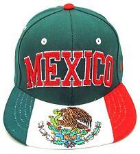 73fe1127c9e7d8 MEXICO Zephyr Snapback Cap Hat Mexican Aguila Flag Emblem Green Adult OSFM  NWT