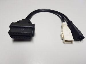 Für Volkswagen OBD2 16 Pin auf OBD1 2x2 Pin Diagnose Stecker Kabel Adapter 0B9