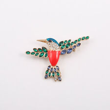 New Fashion Crystals Bird Cute Lady's Gold Pin Brooch