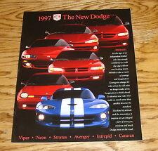 Original 1997 Dodge Car Full Line Sales Brochure 97 Viper Intrepid Stratus