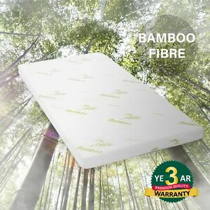 Memory Foam Mattress Topper with Bamboo Cover Single Size