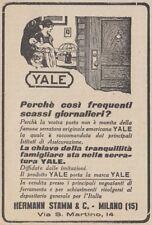 Z2790 Serrature YALE - Pubblicità d'epoca - 1923 vintage advertising