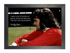 George Best - I Spent - Quote 1 Nothern Irish Professional Footballer Poster