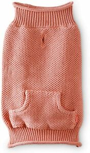 Reddy Knit Dog Sweater Coral and Indigo NEW