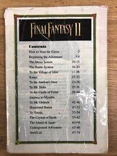 C16 Final Fantasy II 2 SNES Super Nintendo Instruction Manual Only