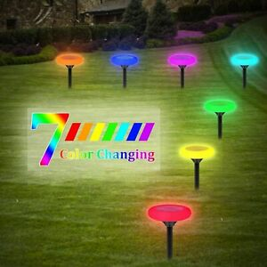 4PCS Solar Ground Lights LED Garden Solar Lamp Waterproof Color Changing Lights
