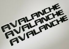 3pc black Avalanche FIT Chevy Door trunk tailgate EMBLEM NAME BADGE 07 08 09-13