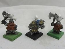Warhammer Dwarfs army lot metal oop partially painted warriors early edition 3