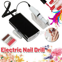Professional Electric Nail Drill 30000 RPM Rechargeable Portable Manicure Set