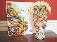"ARDMORE CERAMIC Leopard VASE Art Nouveau Fluted FAB! Original 11""T SA $3.7K NEW"