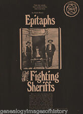 Epitaphs Of The Fighting Sheriffs-Courtright, Helms,Madsen, Plummer, Stoudenmire