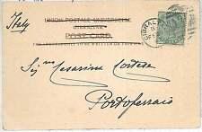 GIBRALTAR -  POSTAL HISTORY: POSTCARD to ITALY - 1908