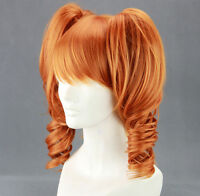 Long Sound Horizon Marchen Orange Anime Cosplay Wig + 2Clip On Ponytails AE243