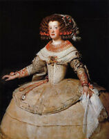 Nice Oil painting Diego Velazquez - Young girl Maria Teresa of Spain in dress
