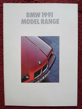 BMW Range 1991 UK Market brochure prospekt - 3 5 7 8 Series M5 & Z1 750 V12
